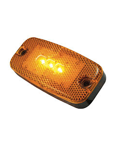 LED Positionslykta, orange med inbyggd reflex
