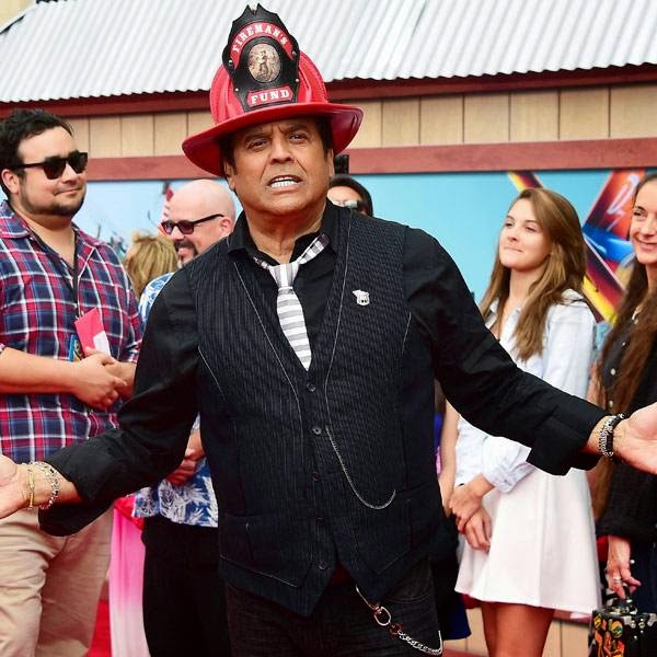 Erik Estrada, who voices Nick 'Loopin' Lopez, poses on arrival for the world premiere of the film 'Planes Fire & Rescue' in Hollywood, California, on July 15, 2014.