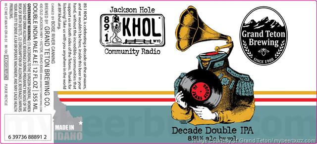 Grand Teton - Decade Double IPA / KHOL 89.1