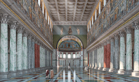 Reconstructions of the Interior of St. Peter's Basilica as Built by the Emperor Constantine
