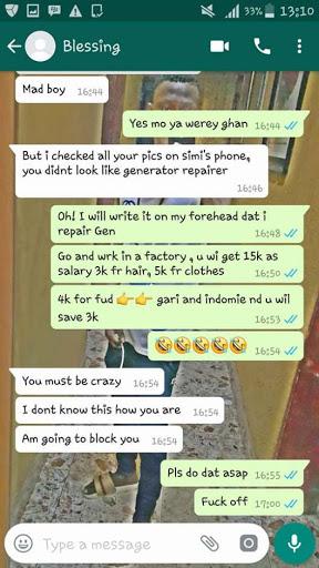 Hilarious Whatsapp Conversation Between A Nigerian Big Boy And A Runs Girl