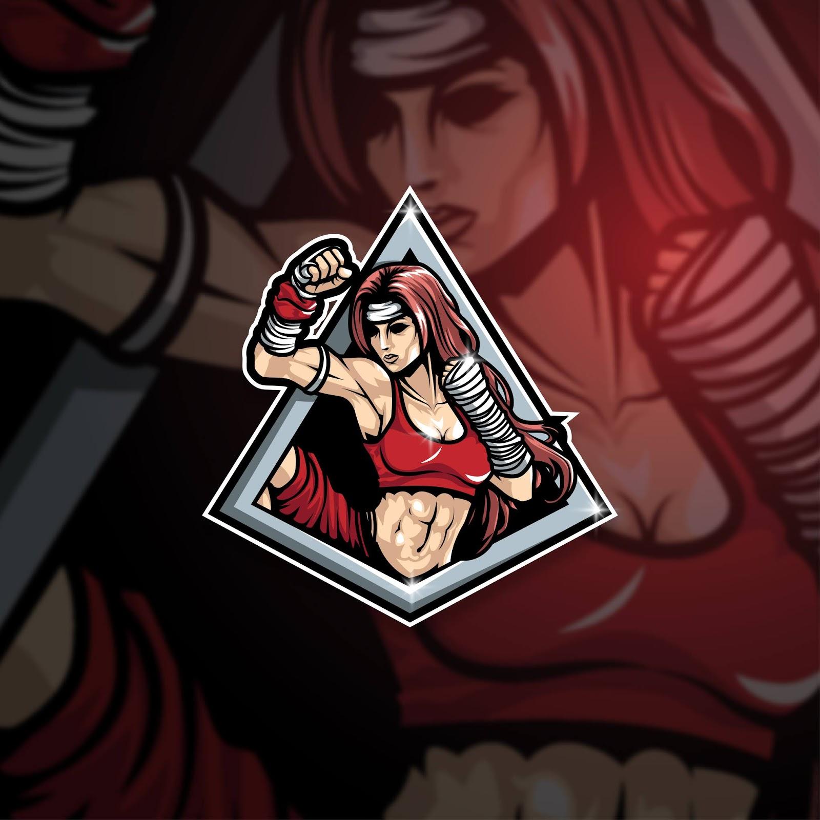 Esports Mascot Logo Team Master Muay Thai Free Download Vector CDR, AI, EPS and PNG Formats