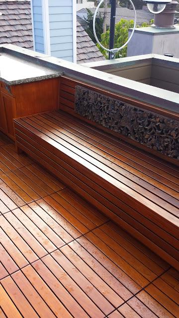 Rooftop teak decking