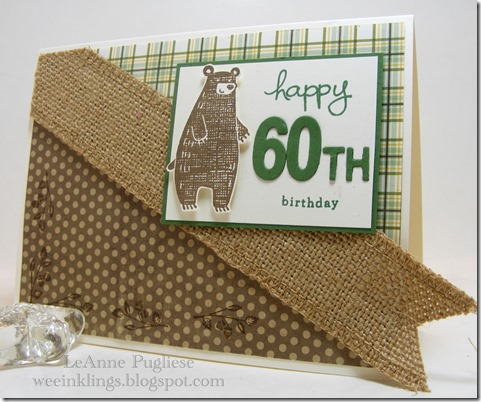 LeAnne Pugliese WeeInklings Thankful Forest Friends Stampin Up 60th Birthday
