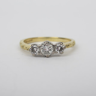 18K Gold, Platinum & Diamond Ring