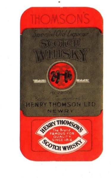 1940s HENRY THOMSONS LTD NEWRY SCOTLAND SCOTCH WHISKEY