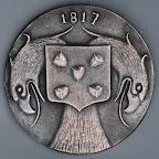 Voorkant van bronzen gedenkpenning Bussum zelfstandig
