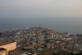View of Naples and the Mediterranean Sea from Castel Sant