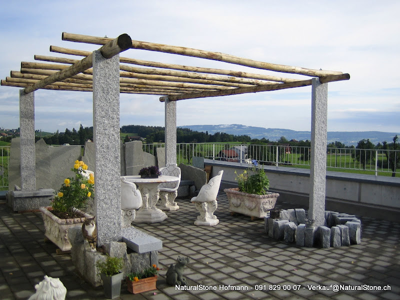 pergola aus tessiner granit gneis f r ihren garten. Black Bedroom Furniture Sets. Home Design Ideas