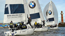 J/80s sailing BMW Sailing Cup- Berlin, Germany