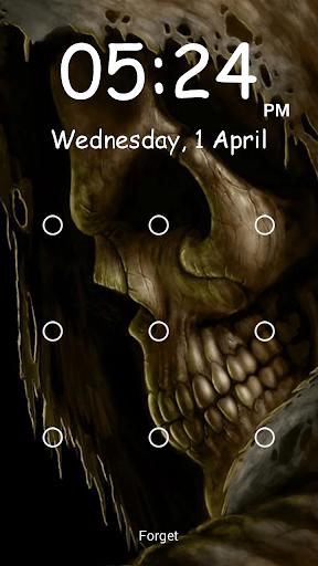 骷髏頭圖案屏幕鎖定
