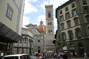 Looking into Cathedral Square, Florence