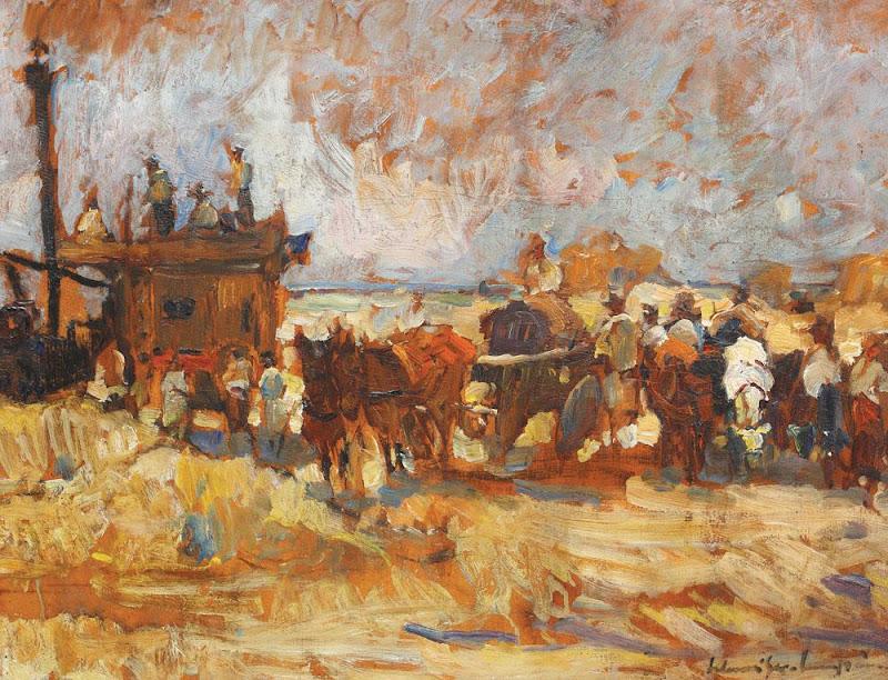 Rudolf Schweitzer-Cumpăna - Împărțirea grâului (Batoza lui Malaxa).