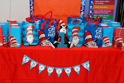 Cat in the Hat Party Banner