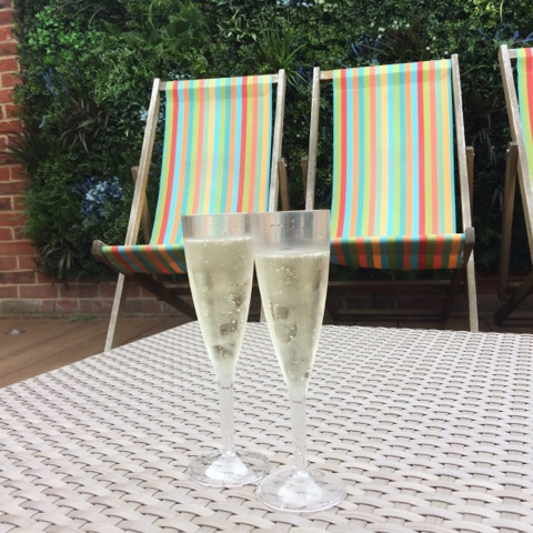Poolside prosecco at Y Spa Wyboston Lakes