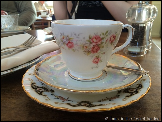 Mismatching china at the Secret Garden Kent
