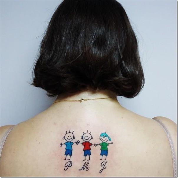 Tatuaje De Madre Y Tres Hijos Sfb