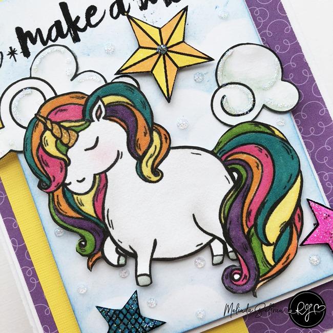 make a wish unicorn card