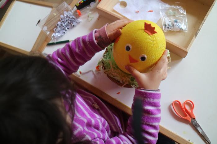 Rabbit Loop, rabbit children, montessori rabbits, Easter montessori, chicks, arts Easter montessori,