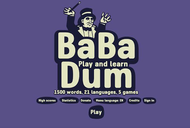 Um jogo de teste de vocabulário em inglês