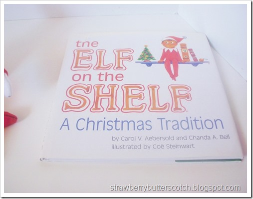 A used copy of the Elf on the Shelf book, bought to go with a diy elf on the shelf doll.