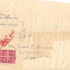 Envelope addressed to Mrs. Emilia F. Thompson for