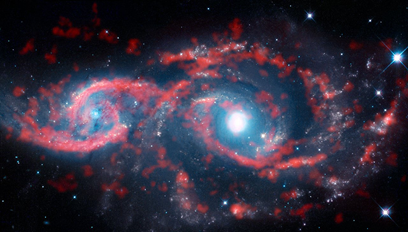 IC 2163 e NGC 2207