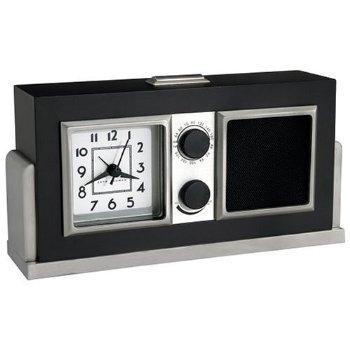 seth thomas baxter analog alarm clock radio stereo clock radio. Black Bedroom Furniture Sets. Home Design Ideas