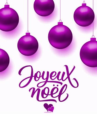écriture joyeux noël violet