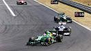 Giedo van der Garde racing his Caterham CT03