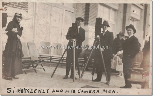 Sigs Weekly and his camera men 1916