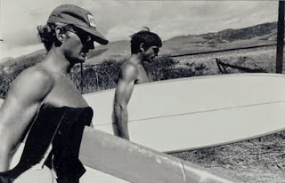 Anthony Friedkin  photo of Rick Dano and I on a break going surfing at Cojo during the filming of John Milius