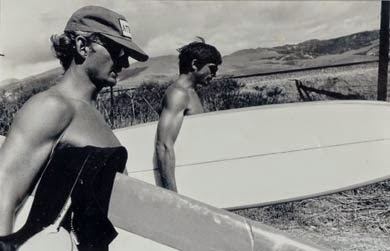 Anthony Friedkin  photo of Rick Dano and I on a break going surfing at Cojo during the filming of John Milius's 'Big Wednesday' 1978.