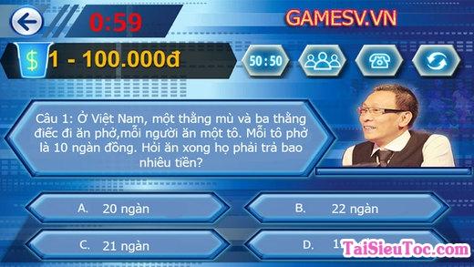 game ai là triệu phú cho iPhone, iPad