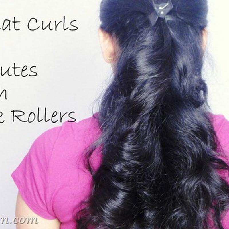 Sagaciously Beautiful: 10 Minutes Curls ~ How to Use Bendy Stick Foam Rollers ~ Video Tutorial
