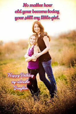Mother with daughter, Happy birthday quotes for kids.