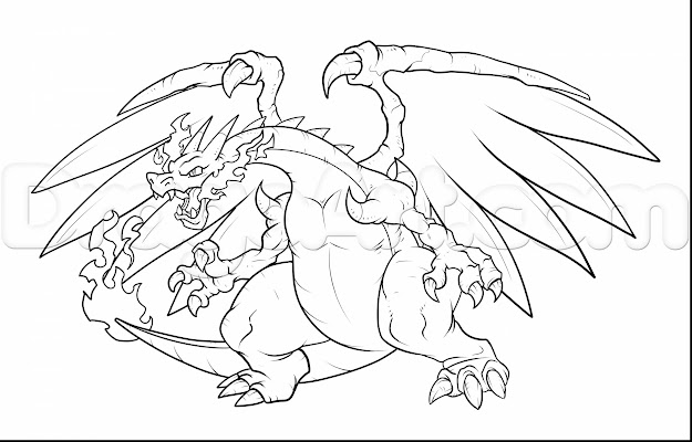 Beautiful Mega Charizard Coloring Pages With Charizard Coloring Pages And  Charizard Online Coloring Pages