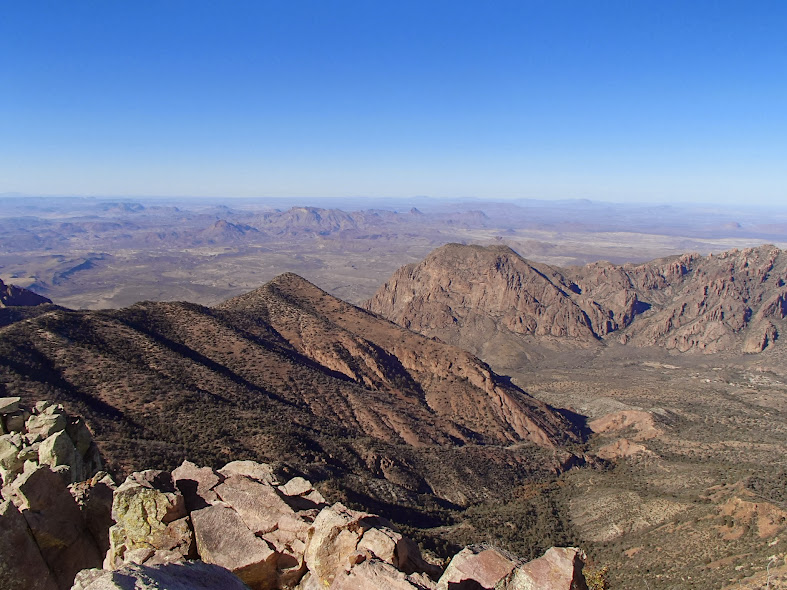 Big Bend National Park Chisos Basin from Emory Peak