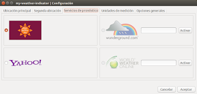 My Weather Indicator para Ubuntu - Configuracion 2