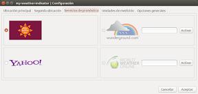 My Weather Indicator para Ubuntu - Configuracion 2