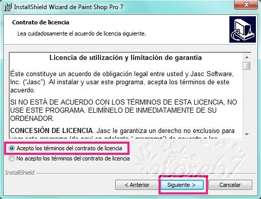 3-Descargar e Instalar Paint Shop Pro 7.04