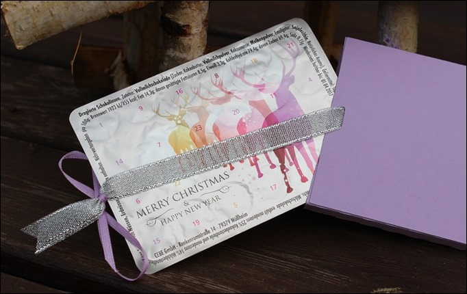 Adventskalender to go Stampin Up Flieder Lilac Snowflakes 02
