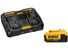 CLEARANCE - DeWalt 20V MAX XR Dual Port Battery Charger with 4.0 Ah Battery