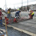 Parking lot first concrete