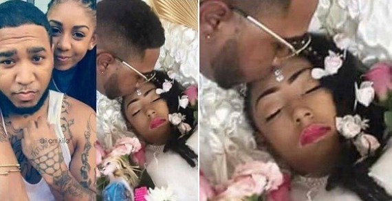 This Viral Photos Of A Guy With His Girlfriend When She Was Alive And Dead, Is Melting Hearts Online