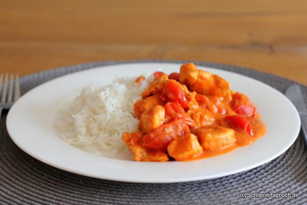 Tandoori Chicken mit Basmati-Reis