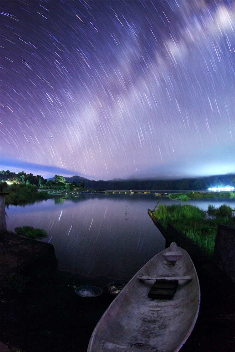Starry Night on Lake Batur