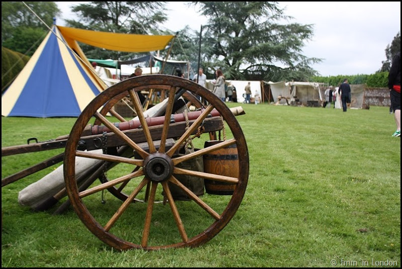 A canon at Lullingstone Castle medieval weekend