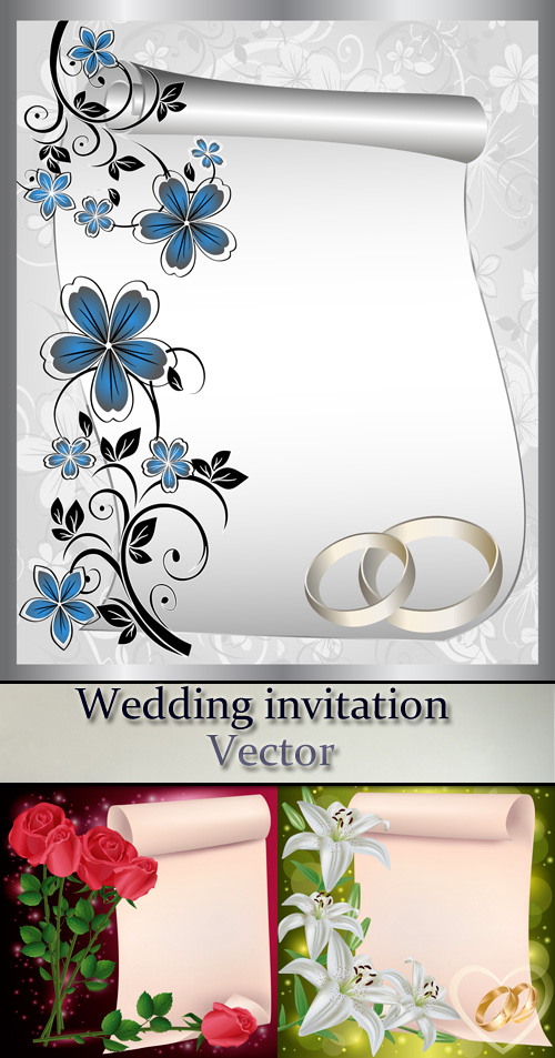 Stock: Wedding invitation 4