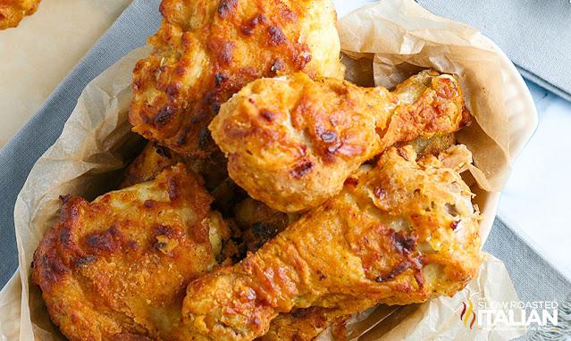 Air Fried Chicken in a basket